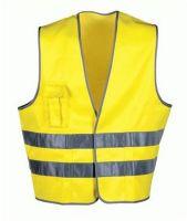 F-WICATEX-Warn-Schutz, Textil Arbeits-Sicherheits-Berufs-Weste, FRED, fluoreszierend gelb