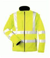F-ELYSEE, Warn-Schutz-Softshell Arbeits-Berufs-Jacke, LOGAN, gelb