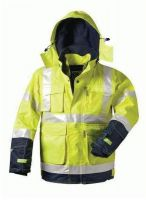 F-ELYSEE-Warn-Schutz, 2 in 1-Arbeits-Berufs-Jacke, BENJAMIN, fluoreszierend gelb, marine ab