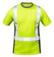 F-ELYSEE-Warn-Schutz-T-Shirt, AMSTERDAM, gelb/grau