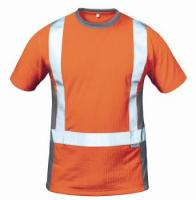 F-ELYSEE-Warn-Schutz-T-Shirt, ROTTERDAM, orange/grau