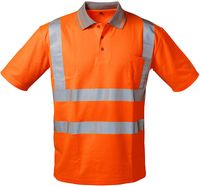 F-Safestyle Warn-Schutz Polo-Shirt, MATEO, fluoreszierend, orange