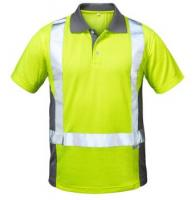 F-ELYSEE-Warn-Schutz--Polo-Shirt, DEN HAAG, gelb/grau