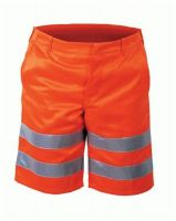 F-SAFESTYLE, Warn-Schutz-Shorts, PETER, fluoreszierend orange
