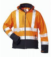 F-ELYSEE, Warn-Schutz-Softshell Arbeits-Berufs-Jacke, BILL, fluoreszierend orang