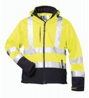F-ELYSEE, Warn-Schutz-Softshell Arbeits-Berufs-Jacke, LIAM, fluoreszierend gelb/m