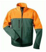 F-ELYSEE, Softshell Winter-Arbeits-Berufs-Jacke SANDDORN, grün/orange