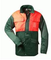 FELDTMANN Forst-Arbeits-Schnitt-Schutz-Berufs-Jacke, mit Schnittschutz, BUCHE, grün, orange abgesetzt