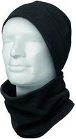 FELDTMANN Winter-Fleece-Set, Mütze und Schal, KEDRO, schwarz