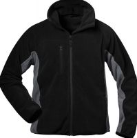 F-CRAFTLAND, Winter-Fleece-Arbeits-Berufs-Jacke, ADLER, schwarz/grau