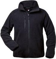 F-ELYSEE, Fleece-Arbeits-Berufs-Jacke, TWISTER, schwarz, rot/grau abgesetzt