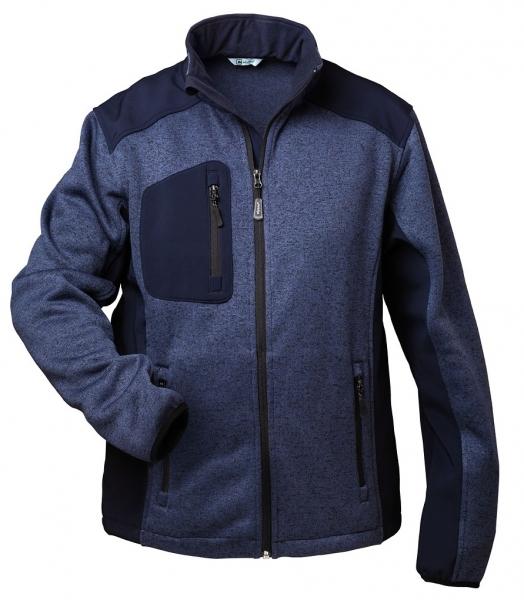 F-ELYSEE-Strick-Fleece-Arbeits-Berufs-Jacke, *SALZBURG*, blau-melance/marine