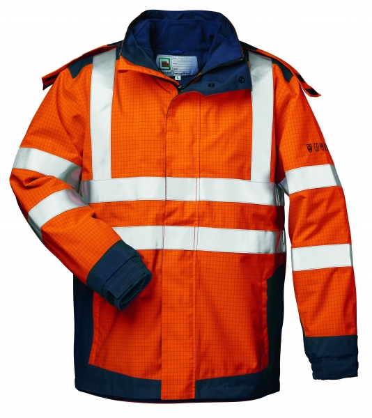 F-ELYSEE-Warn-Schutz-Multinorm-3in1 Jacke *ARNOLD*, orange/marine