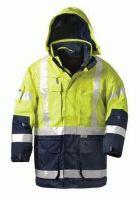 F-ELYSEE, 4 in 1-Warn-Schutz-Arbeits-Berufs-Parka, JEKYLL, fluoreszierend gelb,