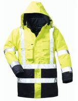 F-ELYSEE, Warn-Schutz-Arbeits-Berufs-Parka, JANNIS, fluoreszierend gelb/marine a