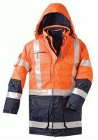 F-ELYSEE, 4 in 1-Warn-Schutz-Arbeits-Berufs-Parka, WALLACE, fluoreszierend orang