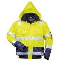 F-ELYSEE-Warn-Schutz-Piloten-Arbeits-Berufs-Jacke, 4-in 1, *ARTHUR*, fluoreszierend gelb/marine