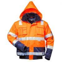 F-ELYSEE-Warn-Schutz-Piloten-Arbeits-Berufs-Jacke, 4-in 1, *OLIVER*, fluoreszierend orange/marine