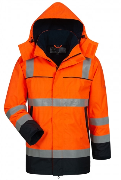 F-Parka, Multinorm, *AARO*, fluoreszierend orange/marine