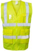 F-SAFESTYLE-Warn-Schutz, Arbeits-Sicherheits-Berufs-Weste, *ALBIN*, fluoreszierend gelb