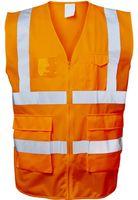 F-SAFESTYLE-Warn-Schutz, Arbeits-Sicherheits-Berufs-Weste, EWALD, fluoreszierend orange