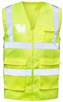 F-SAFESTYLE-Warn-Schutz, Arbeits-Sicherheits-Berufs-Weste, MALTE, fluoreszierend gelb