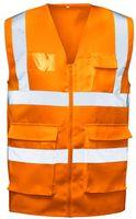 F-SAFESTYLE-Warn-Schutz, Arbeits-Sicherheits-Berufs-Weste, ANSGAR, fluoreszierend orange