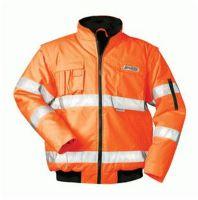 F-SAFESTYLE, Warn-Schutz-Pilot-Arbeits-Berufs-Jacke, TOM, fluoreszierend orange