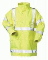 F-SAFESTYLE, Warn-Schutz-Arbeits-Berufs-Parka, MARC, fluoreszierend gelb