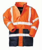 F-SAFESTYLE, 2 in 1-Warn-Schutz-Arbeits-Berufs-Parka, ALEXANDER, fluoreszierend