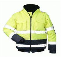 F-SAFESTYLE, Schweißer-Warn-Schutz-Piloten-Arbeits-Berufs-Jacke, HASSO, fluoreszierend gelb
