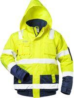 F-SAFESTYLE, Warn-Schutz-Piloten-Arbeits-Berufs-Jacke, AXEL, fluoreszierend gelb/