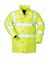 F-SAFESTYLE, Warn-Schutz-Arbeits-Berufs-Parka, HARRY, fluoreszierend gelb