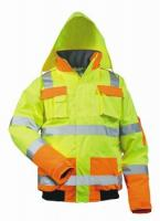 F-SAFESTYLE-Warn-Schutz-Piloten-Arbeits-Berufs-Jacke, MATS, fluoreszierend, gelb/orange