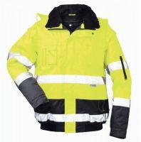 F-ELYSEE, Warn-Schutz-Piloten-Arbeits-Berufs-Jacke, SIEGFRIED, fluoreszierend, gelb