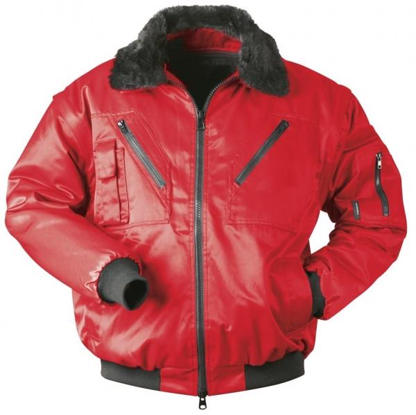 F-NORWAY, Winter-Piloten-Arbeits-Berufs-Jacke, DRAMMEN, rot