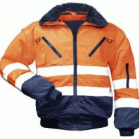 F-NORWAY, Winter-Piloten-Arbeits-Berufs-Jacke, ERIK, orange/marine