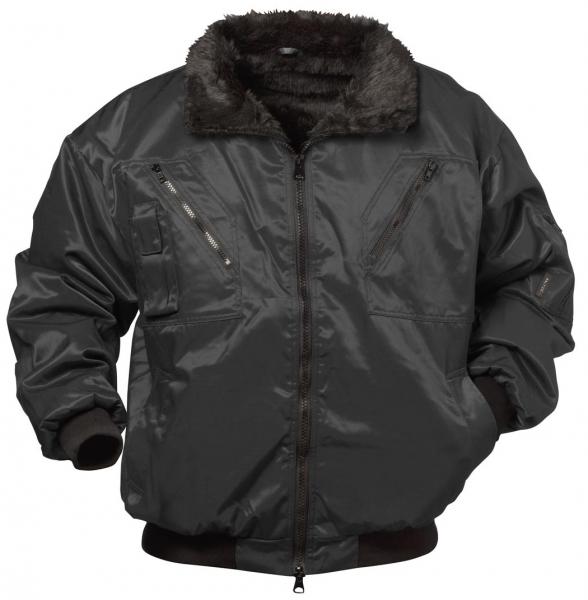 F-BALTIC, Winter-Piloten-Arbeits-Berufs-Jacke, KAUNAS, schwarz