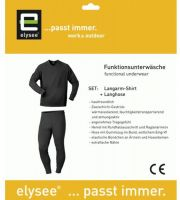 F-ELYSEE-Funktions-Unterwäsche-Set, Hemd und Hose, DELPHI, schwarz