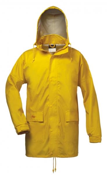 FELDTMANN-NORWAY-PU-Regen-Nässe-Wetter-Schutz-Jacke, LANDSKRONA, gelb