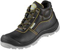 F-S3-WICA--Sicherheits-Arbeits-Berufs-Schuhe, Schnürstiefel, hoch, *VALENTIA ÜK*, schwarz/gelb abgesetzt