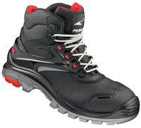 FELDTMANN S 3-Sicherheits-Arbeits-Berufs-Schuhe, Schnürstiefel, hoch, JAGEL, schwarz/rot