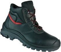 F-S3-CRAFTLAND-Sicherheits-Arbeits-Berufs-Schuhe, hoch, *GELSENKIRCHEN ÜK*, schwarz/rot abgesetzt