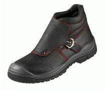 F-S3-BASIC-LINE-Schweißer-Sicherheits-Arbeits-Berufs-Schuhe, *MAGDEBURG ÜK*, schwarz/rot abgesetzt