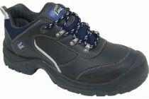 F-S3LUCKY-LINE-Sicherheits-Arbeits-Berufs-Schuhe, Halbschuhe, *RIESA*, schwarz/dunkelblau abgesetzt