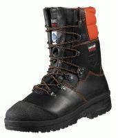 F-S2-CRAFTLAND-Sicherheits-Arbeits-Berufs-Schuhe, Forstarbeiter-Schnürstiefel, *ROBINIE*, schwarz/orange abgesetzt