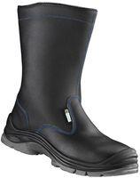 F-S3-ELYSEE-Winter-Sicherheits-Arbeits-Berufs-Schuhe, Schaftstiefel, *WESTERSTEDE ÜK*, schwarz/blau abgesetzt