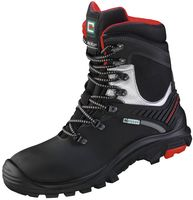 F-S3-ELYSEE-CI-Winter-Sicherheits-Arbeits-Berufs-Schuhe, Schnürstiefel, *DAVOS*, schwarz/rot-silber abgesetzt