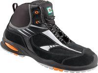 F-S3-ELYSEE-Sicherheits-Arbeits-Berufs-Schuhe, Schnürstiefel, hoch, *PERITO*, schwarz/silber abgesetzt