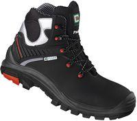 F-S3-ELYSEE-Sicherheits-Arbeits-Berufs-Schuhe, Schnürstiefel, hoch, *BARI*, schwarz/silber abgesetzt